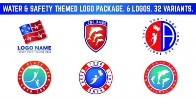 Water And Safety Themed Logo Package