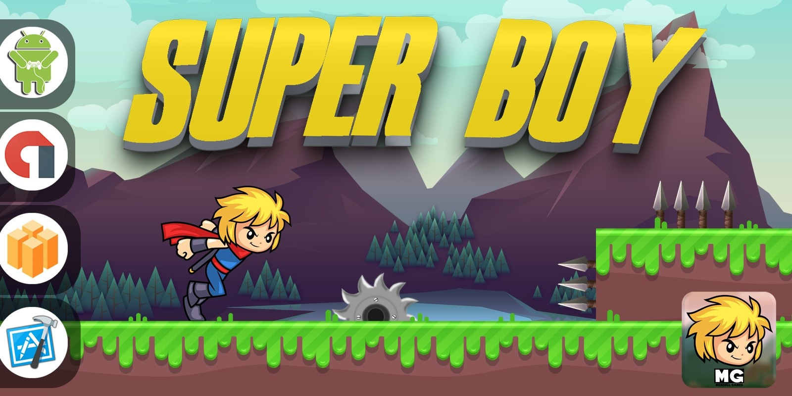 Super Boy - Buildbox Template