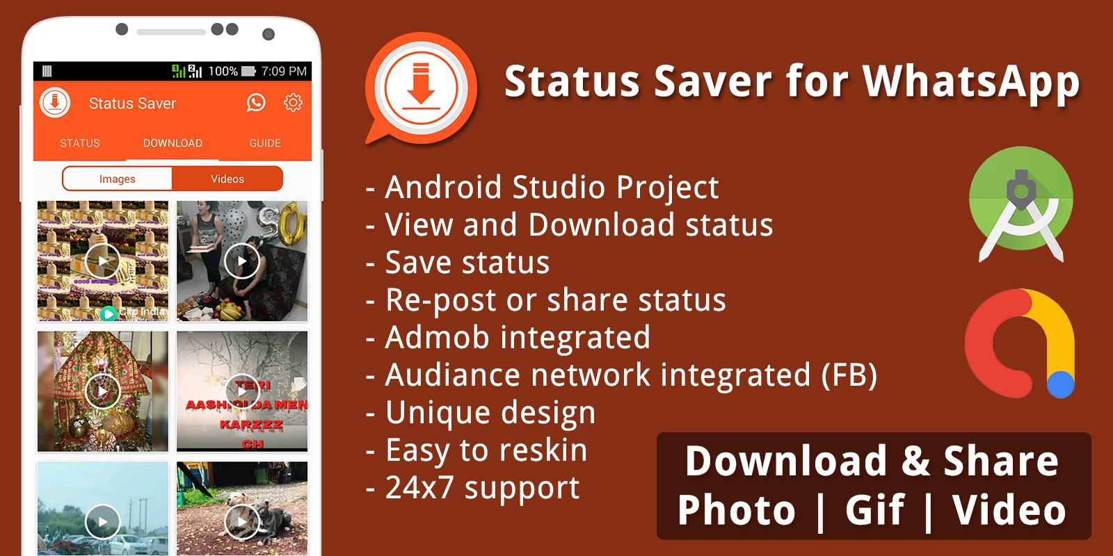 Status Saver For Whatsapp Android Source Code