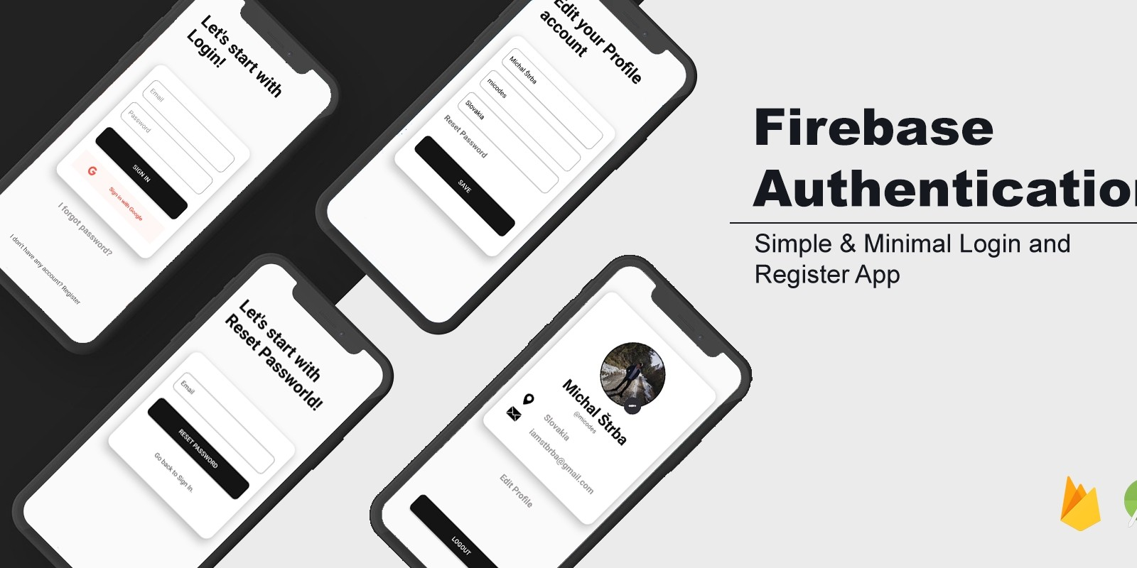 Firebase Authentication - Android Studio Project