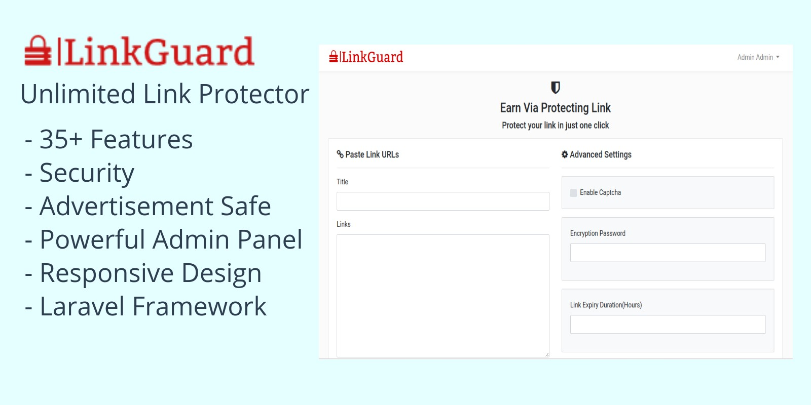 LinkGuard - Link Protecting PHP Script