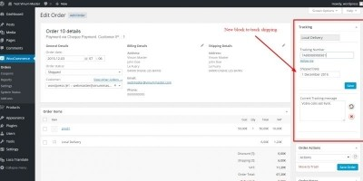 Shipping Tracking Woocommerce - Wordpress Plugin
