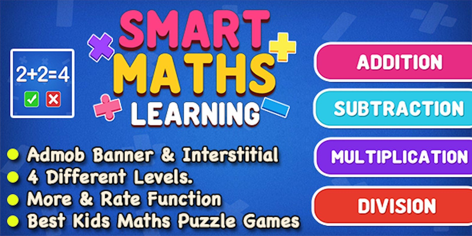 Smart Maths Learning Game - iOS Source Code