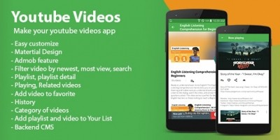 Youtube Videos - Android App Template