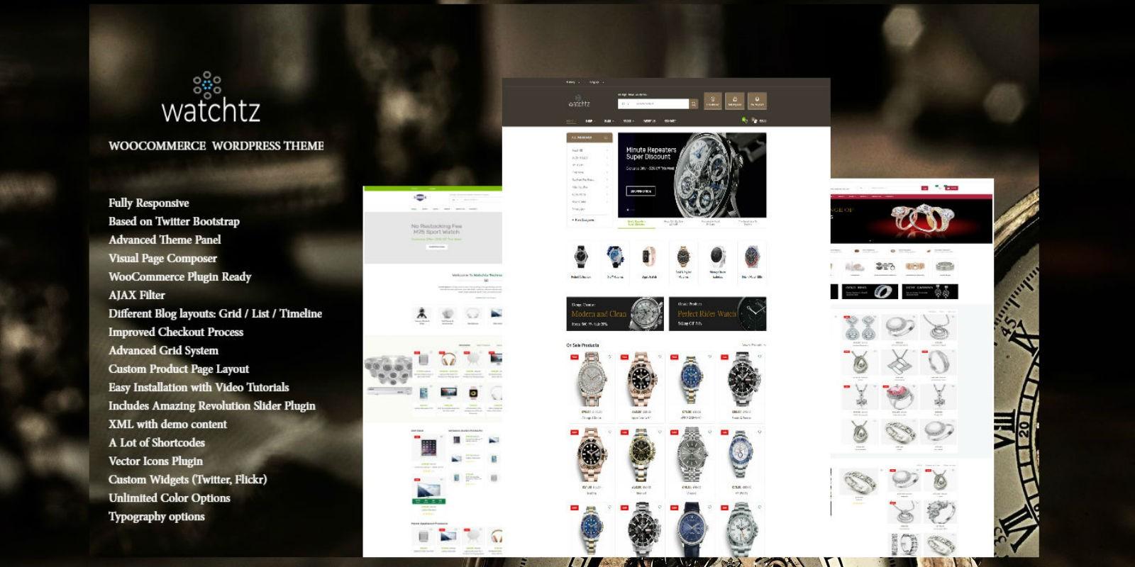 Watchtz - WooCommerce Theme