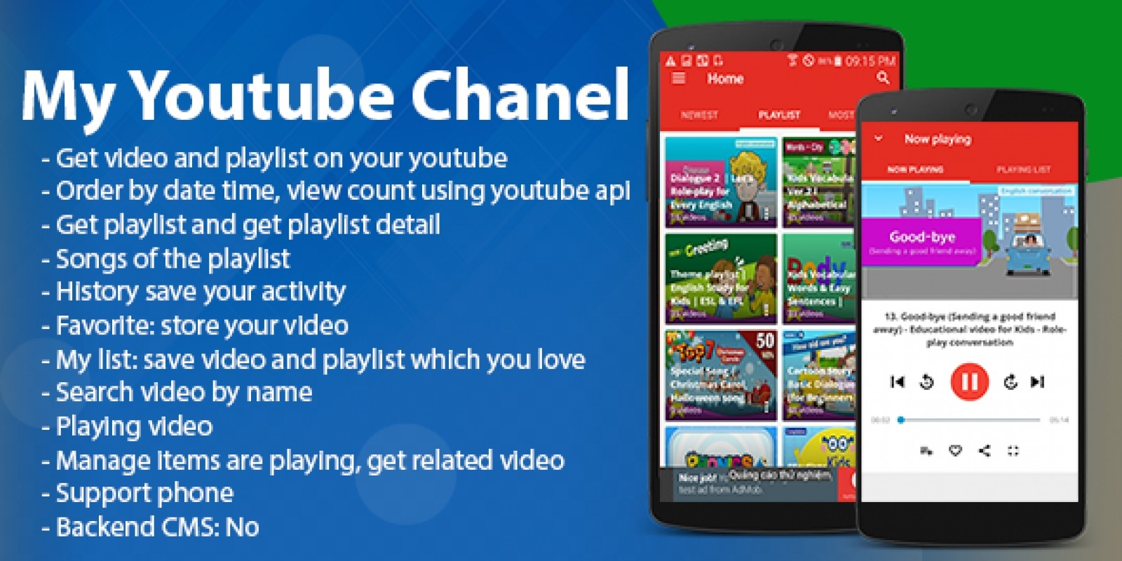My Youtube Chanel - Android App Template