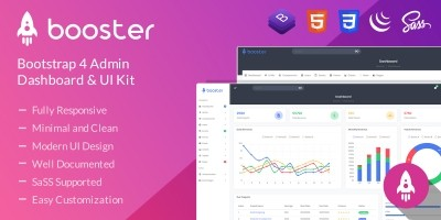 Booster - Bootstrap 4 Admin Dashboard