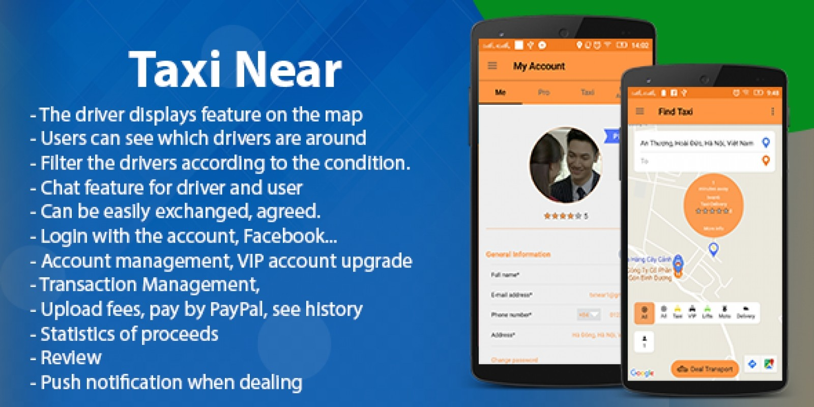Taxi Near -  Android App Template
