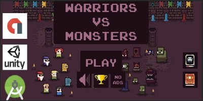 Warriors Vs Monsters- Unity Template