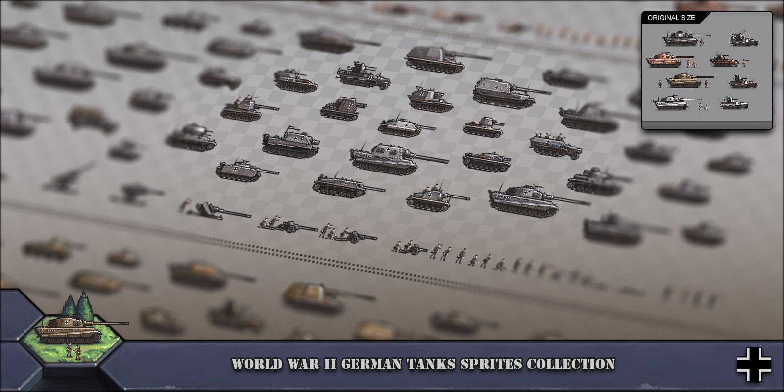 World War 2 German Tanks Sprites Collection