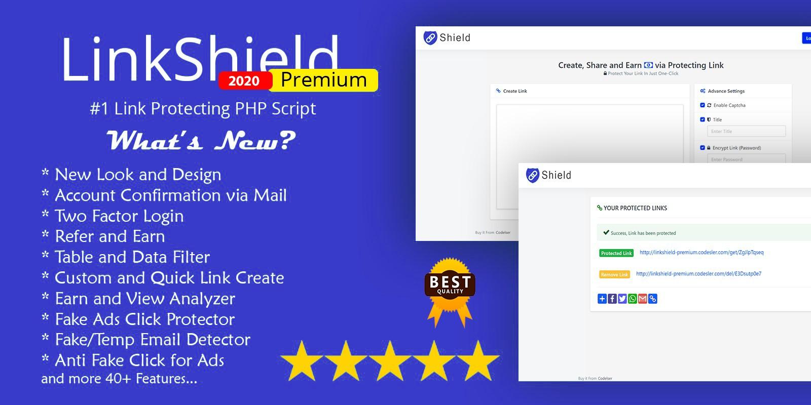 LinkShield Premium - PHP Script