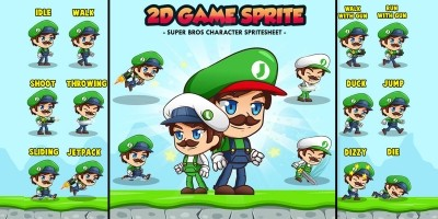 Super Johnson - 2D Game Character Sprites