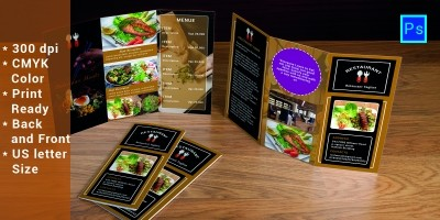 Restaurent Tri-Fold Advertising Brochure