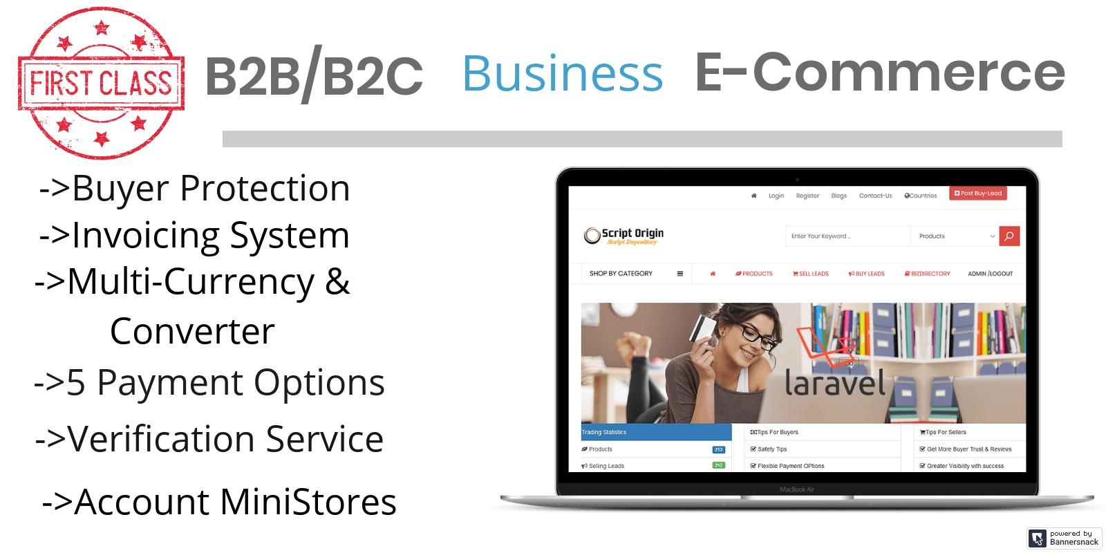 B2B B2C Business Script PHP