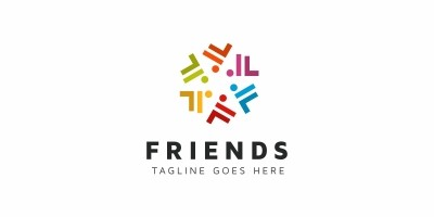 Friends F Letter Logo