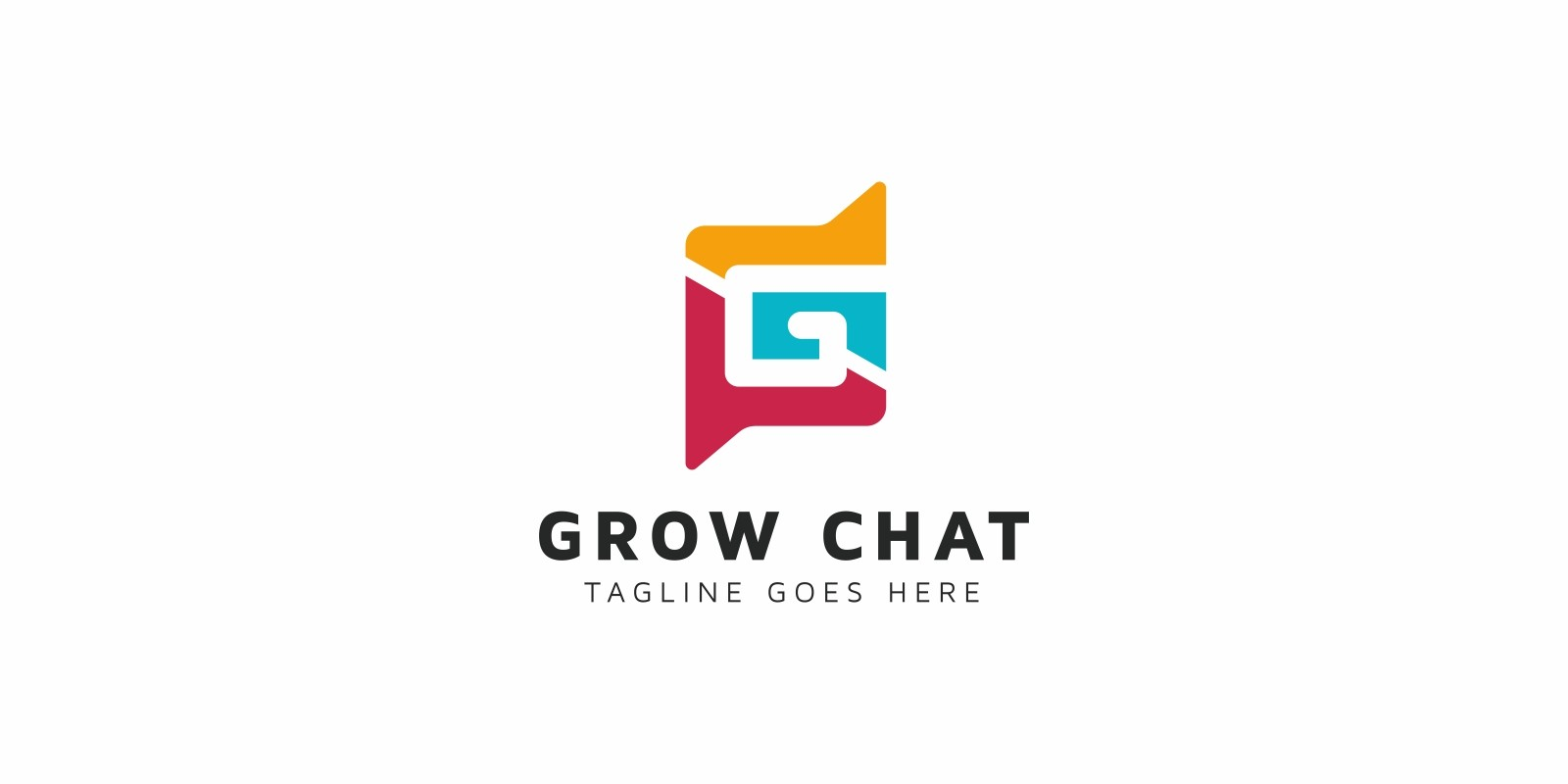 Grow Chat G Letter Logo