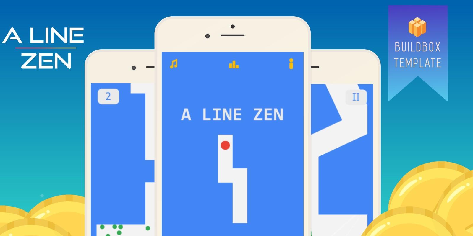 A Line Zen - Buildbox Template