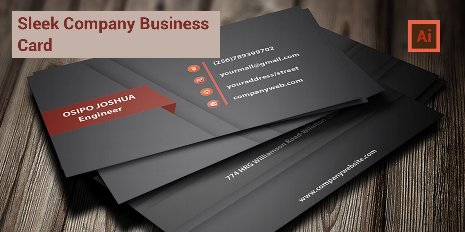 Sleek Professional Business Card