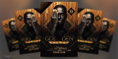 Golden Night - Party Flyer