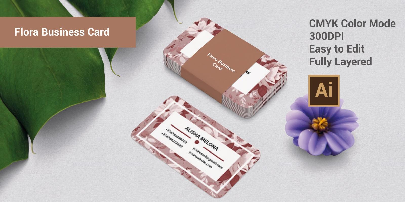 Flora Business Card