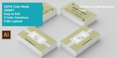 Mushroom Sale Business Card