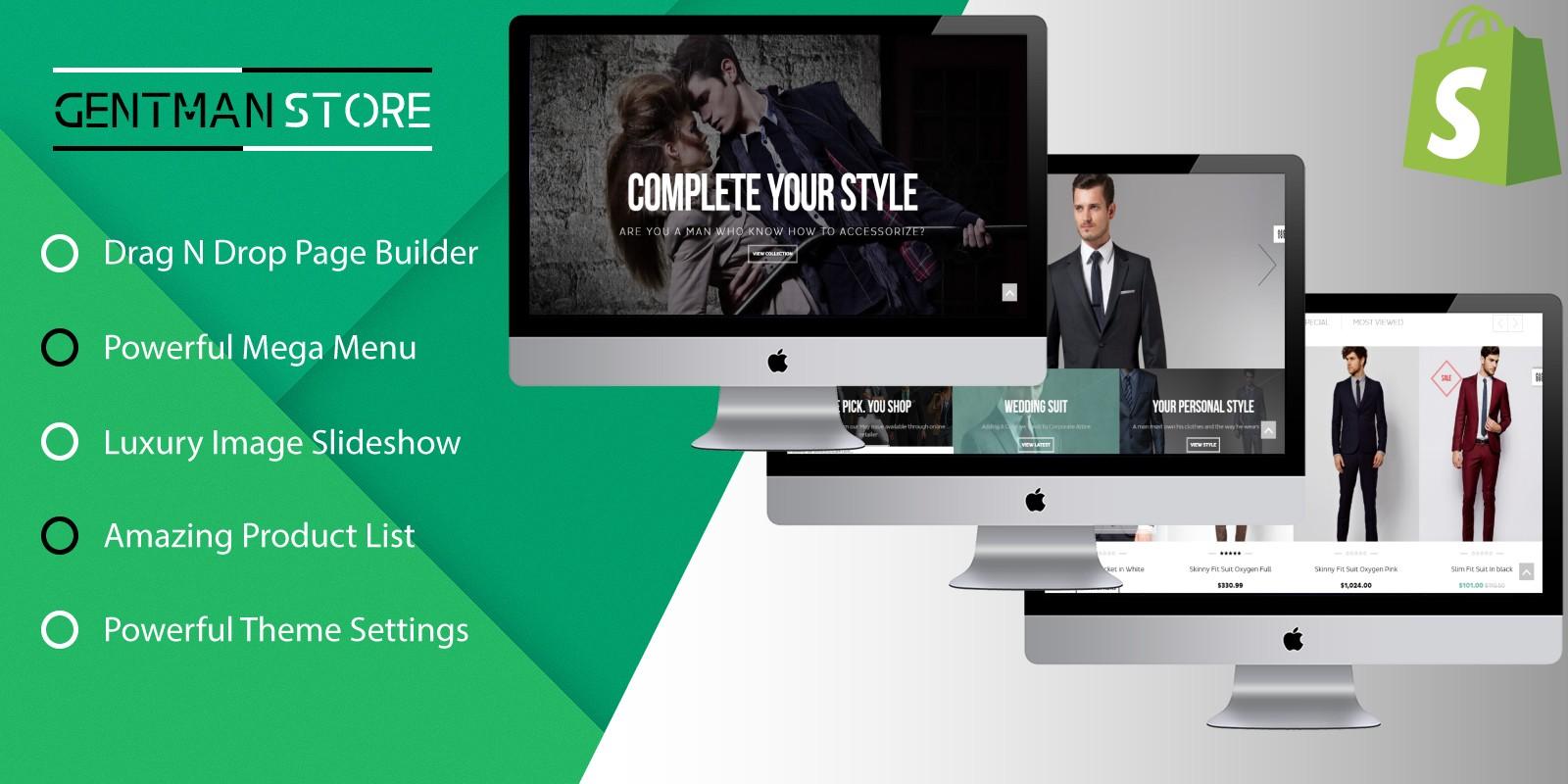 SP Gentman - E-commerce Shopify Responisive Theme