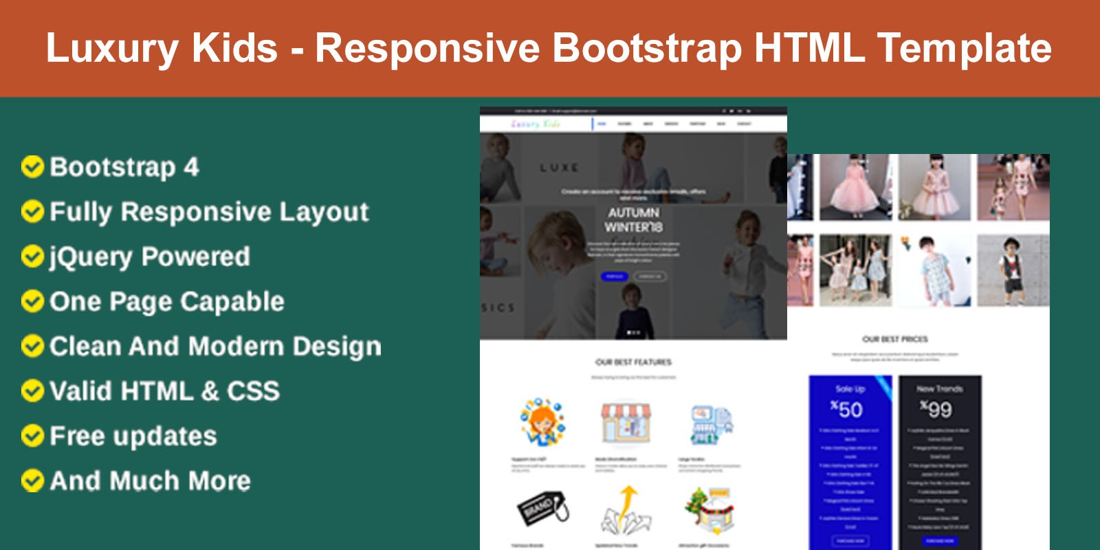 Luxury Kids - Responsive Bootstrap HTML Template