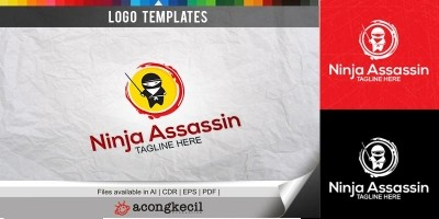 Ninja Assassin - Logo Template