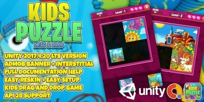 Kids Puzzle Drag And Drop - Unity Project
