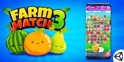 Farm Fruit 3 Match Game Template Unity