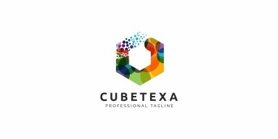 Cube Colorful Logo