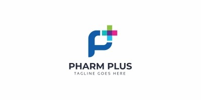 Pharm Plus P Letter Logo
