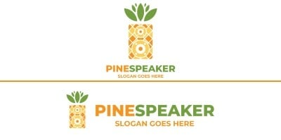 Pineapple Speaker Logo Design