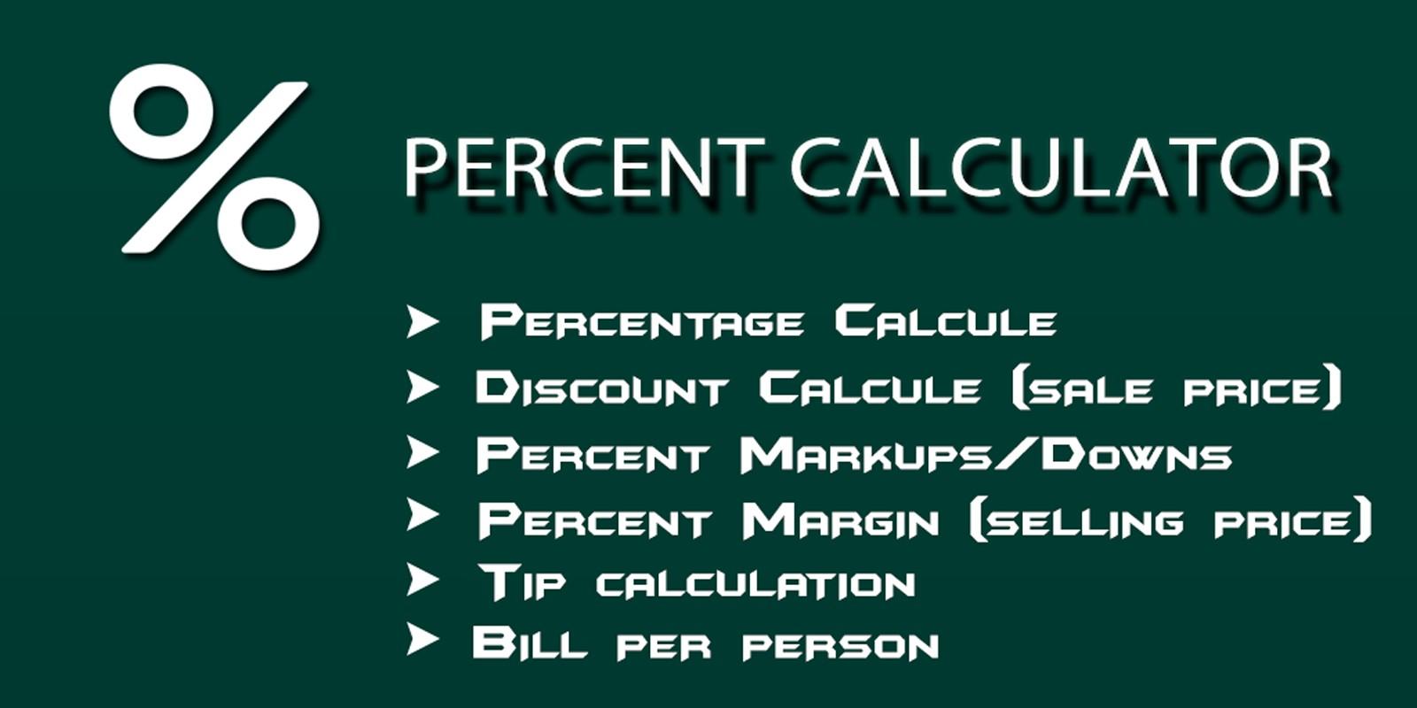 Percent Calculator - Android App Source Code