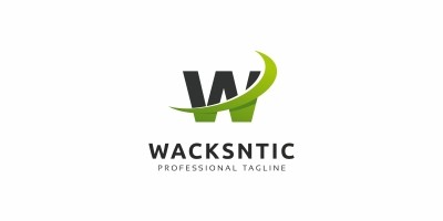 Wacksntic W Letter Logo