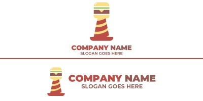 Burger Lighthouse Logo