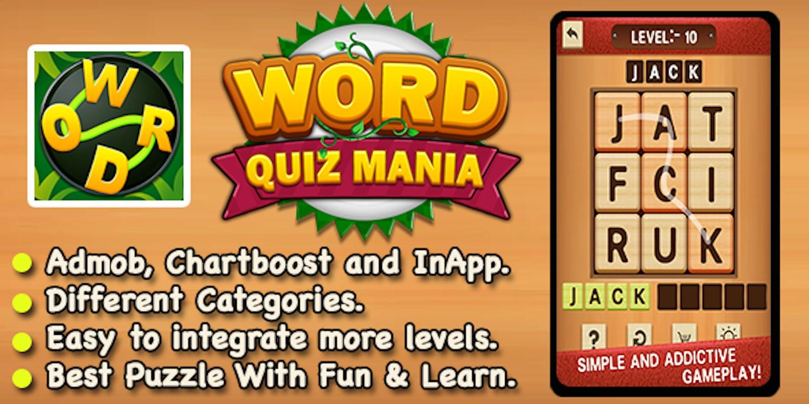 Word Puzzle Mania - Xcode Word Trivia Puzzle Gam