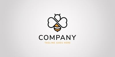 Bee Love Logo Template
