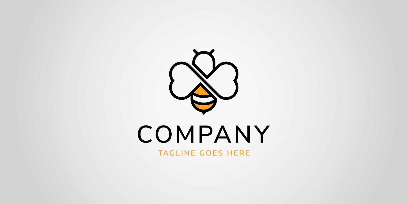Bee Love Logo Template