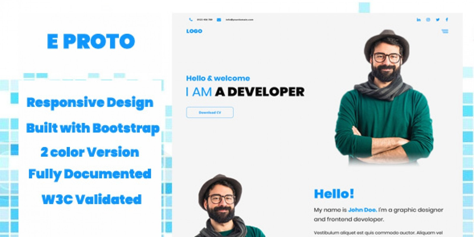 eProto Landing Page HTML Template