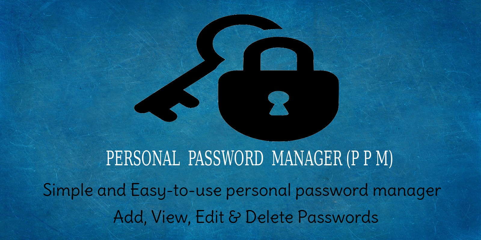 PPM - Personal Password Manager Script