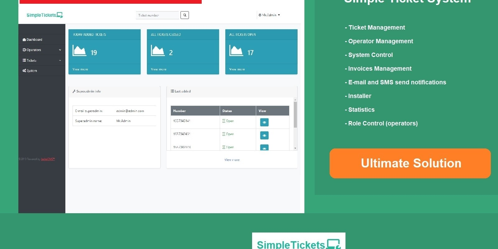 Support Ticket System PHP