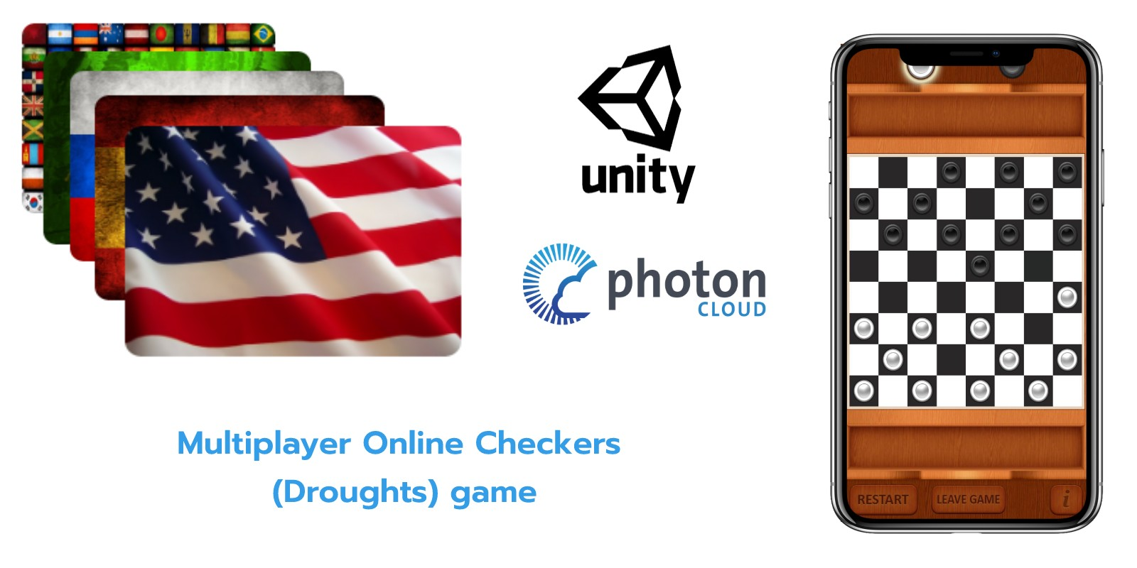 Multiplayer Online Checkers  - Unity Project