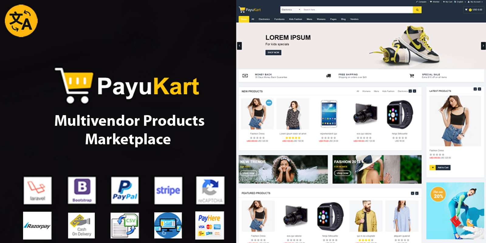 PayuKart - Multivendor Products Marketplace Script