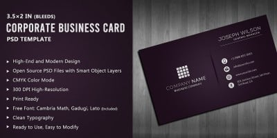 Purple Corporate Business Card