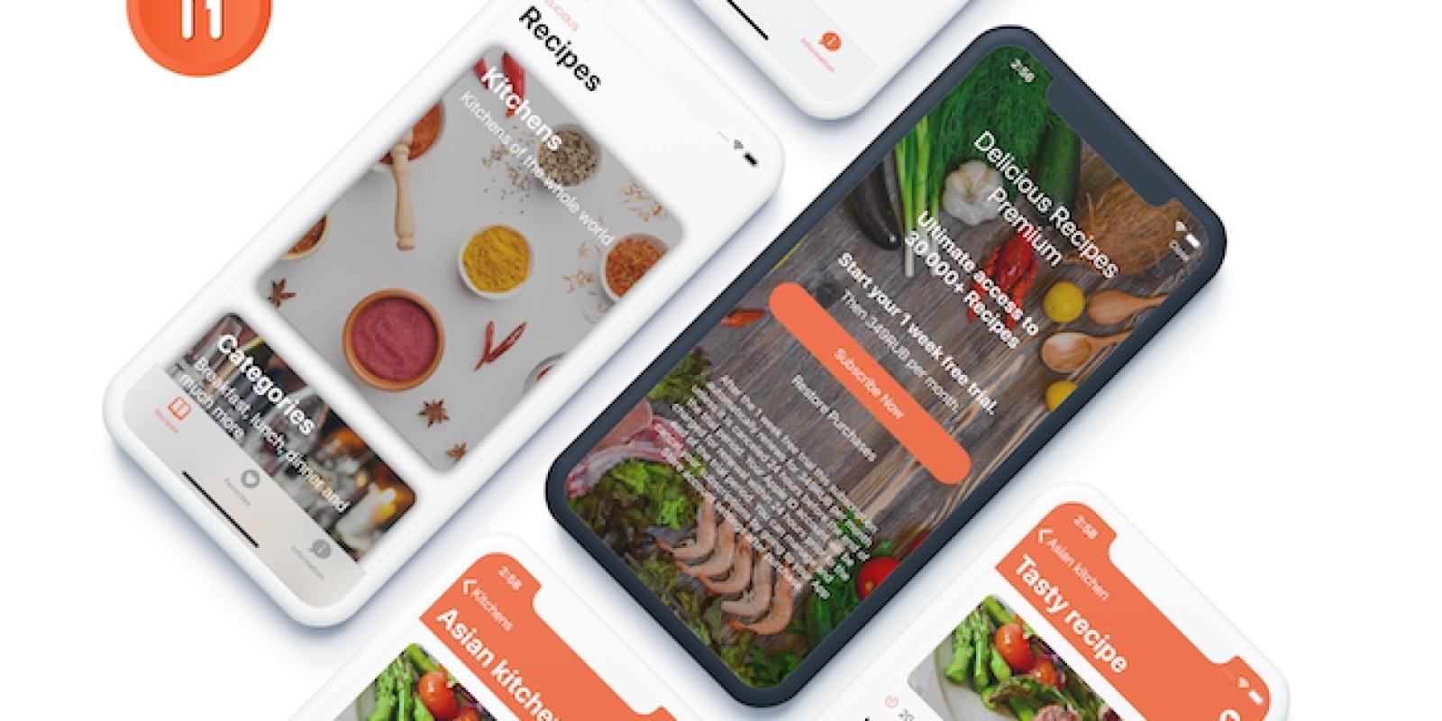 Delicious Recipes - iOS Source Code