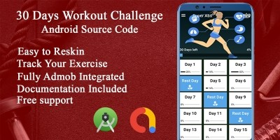 30 Days Workout Plan - Android Source Code