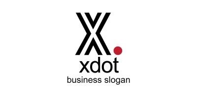 Xdot X Letter Logo