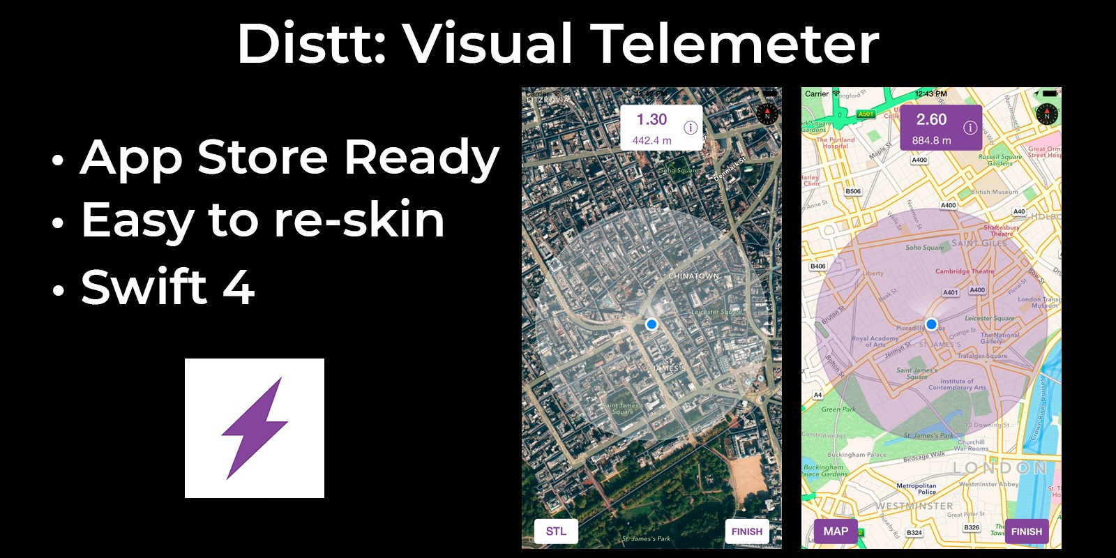 Distt Visual Telemeter - iOS Source Code