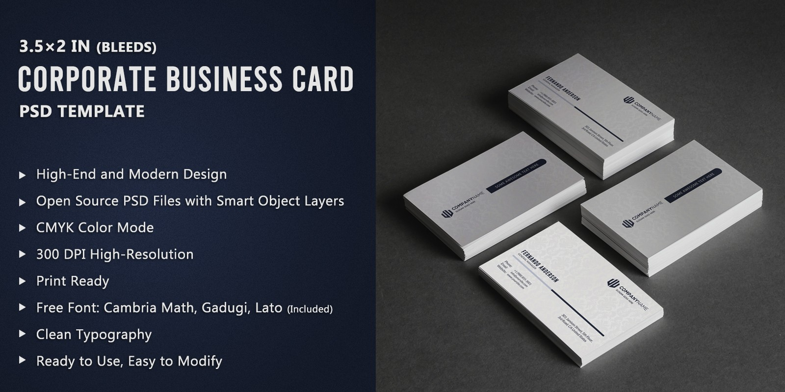 White Corporate Business Card